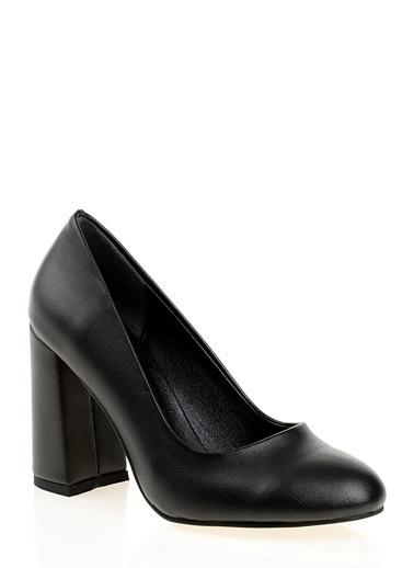 D by Divarese Kalın Topuklu Ayakkabı Siyah
